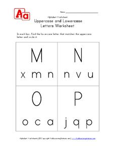 Uppercase and Lowercase Letters Worksheet Worksheet