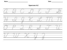 Uppercase A-Z Worksheet