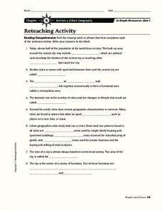 Urban Geography Worksheet