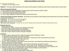 Urban Wilderness and Parks Lesson Plan