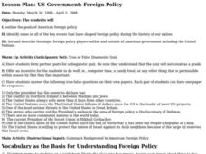 US Government: Foreign Policy Lesson Plan