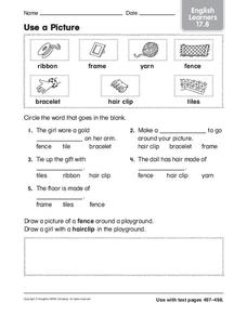 Use a Picture: English Learners Worksheet