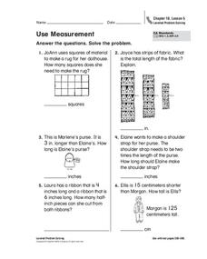Use Measurement Worksheet