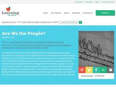 Are We the People? Lesson Plan