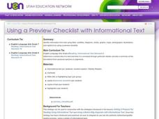 Using a Preview Checklist with Informational Text Lesson Plan