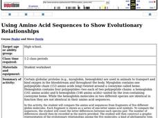 Using Amino Acid Sequences to Show Evolutionary Relationships Lesson Plan