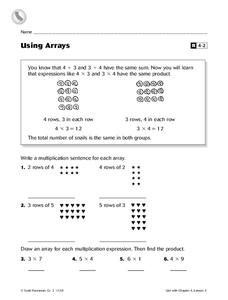 Using Arrays Worksheet