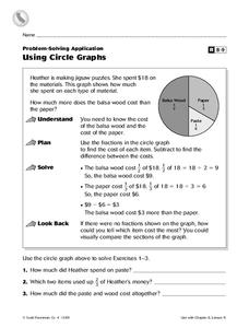 Using Circle Graphs Worksheet