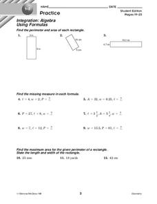 Using Formulas Worksheet