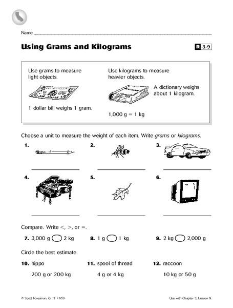 using grams and kilograms worksheet for 3rd grade lesson planet. Black Bedroom Furniture Sets. Home Design Ideas