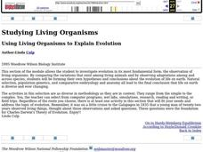 Using Living Organisms to Explain Evolution Lesson Plan