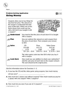 Using Money Worksheet
