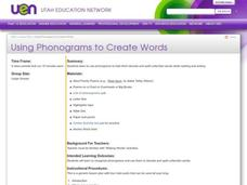 Using Phonograms to Create Words Lesson Plan