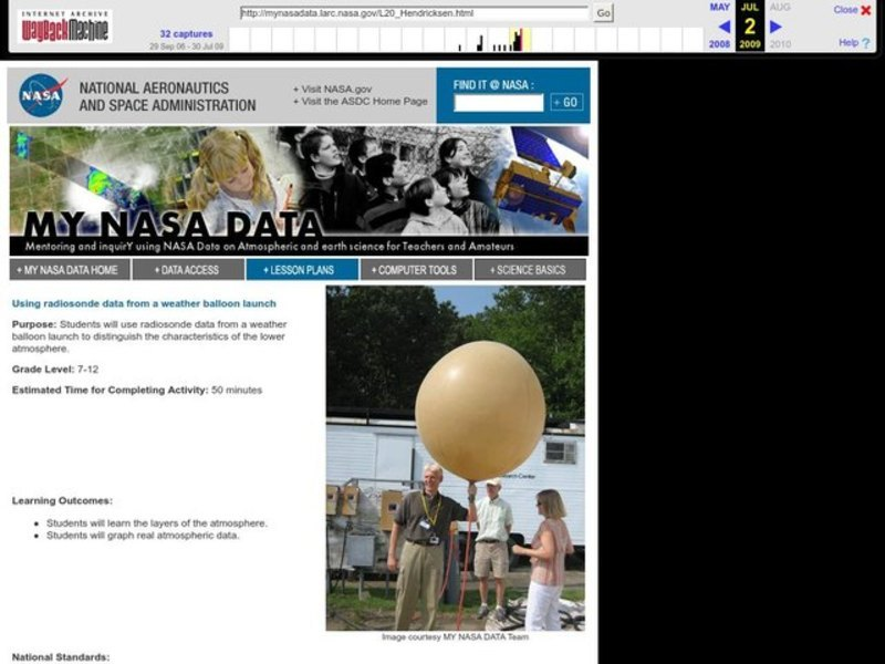 Using Radiosonde Data From a Weather Balloon Launch Lesson