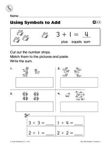 Using Symbols to Add Worksheet