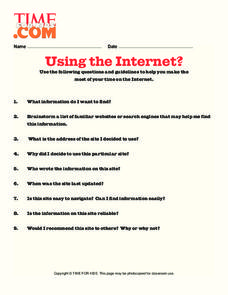 Using The Internet? Lesson Plan