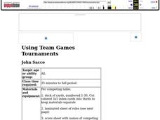 Using Team Games Tournaments Lesson Plan