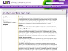 Utah Counties Fun Run Lesson Plan
