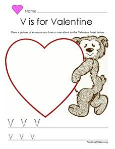 V is for Valentine Lesson Plan
