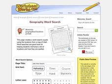 Utah Word Search Worksheet