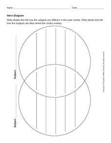 Venn Diagram Graphic Organizer