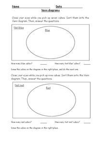 Venn Diagrams Graphic Organizer for 3rd - 5th Grade ...