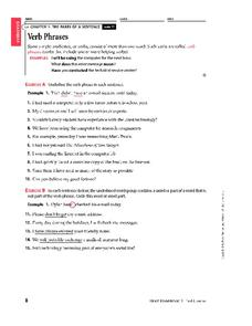 Verb Phrase Lesson Plans & Worksheets Reviewed by Teachers