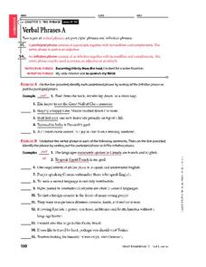 Infinitive Phrase Lesson Plans & Worksheets Reviewed by Teachers