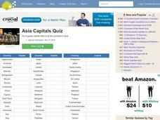 Asian Capitals Quiz Interactive