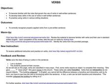 Verbs Lesson Plan