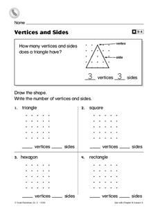Vertices and Sides Worksheet