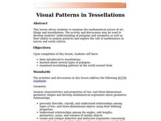 Visual Patterns in Tessellations Lesson Plan