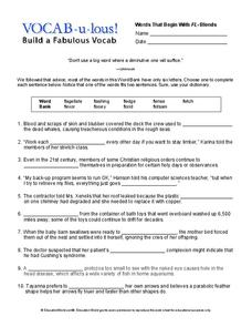 Vocab-u-lous! Build a Fabulous Vocab Worksheet