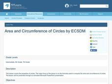 Area and Circumference of Circles Lesson Plan