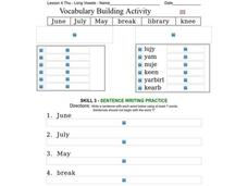 Vocabulary Building: Long Vowels III Worksheet