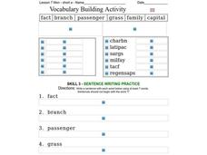Vocabulary Building: Short a Worksheet