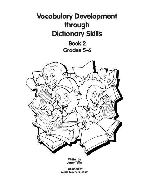 Vocabulary Development Through Dictionary Skills Worksheet