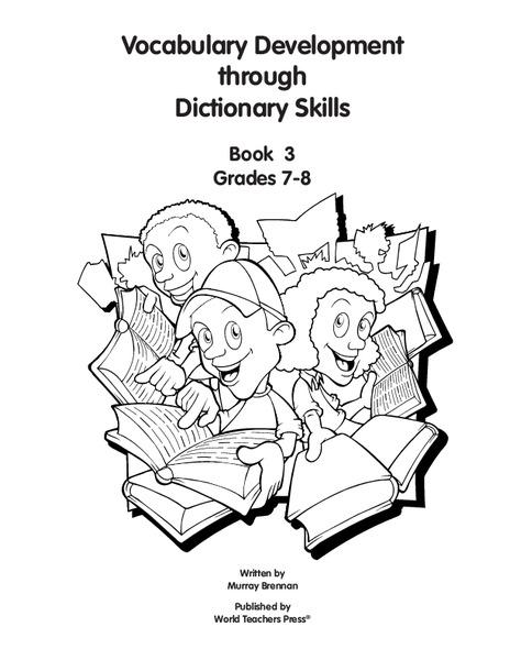 Vocabulary Development through Dictionary Skills Worksheet