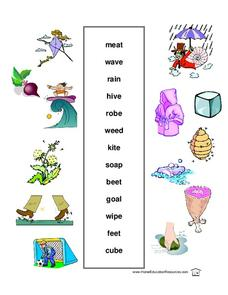 Vocabulary Match Lesson Plan