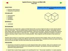 Applied Science - Science and Math Post-Lab Lesson Plan