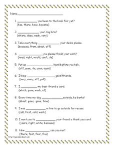 Vocabulary Skills Lesson Plan
