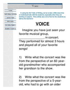 Voice Lesson Plan