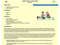 Applied Science - Physics Pre-Lab Lesson Plan
