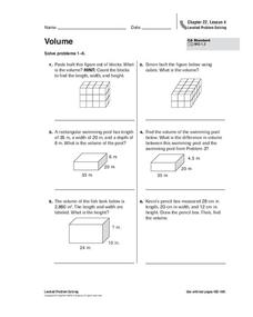 Volume Worksheet