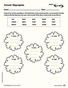 Vowel Digraphs Worksheet