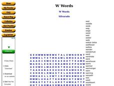 W Words Worksheet