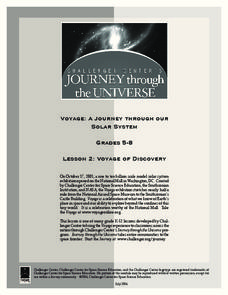 Voyage of Discovery Lesson Plan