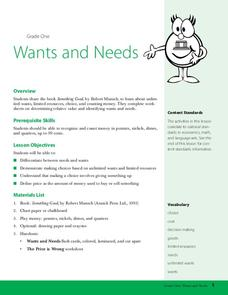 Wants and Needs Lesson Plan