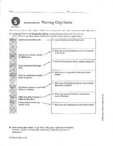 Warring City-States Worksheet