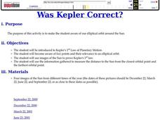 Was Kepler Correct? Lesson Plan